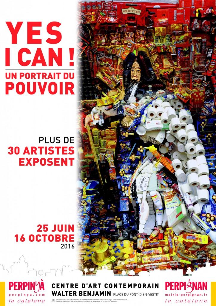affiche expo Yes i can ! portrait du pouvoir